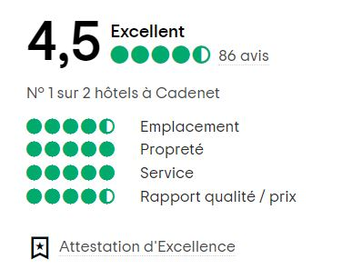Attestation d'excellence Le Mas Du Colombier, hôtel en Provence